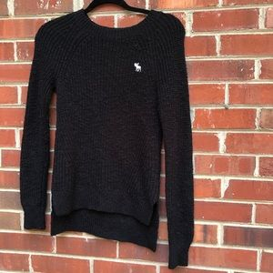 black Abercrombie and Fitch sweater XS